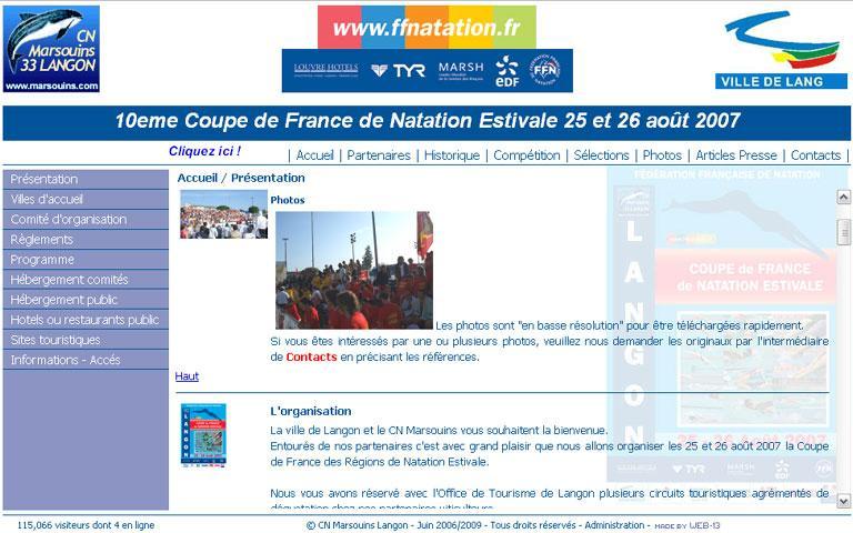 Coupe de France 2007 de Natation Estivale
